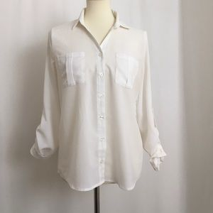 Mine Long Sleeve Blouse Size L